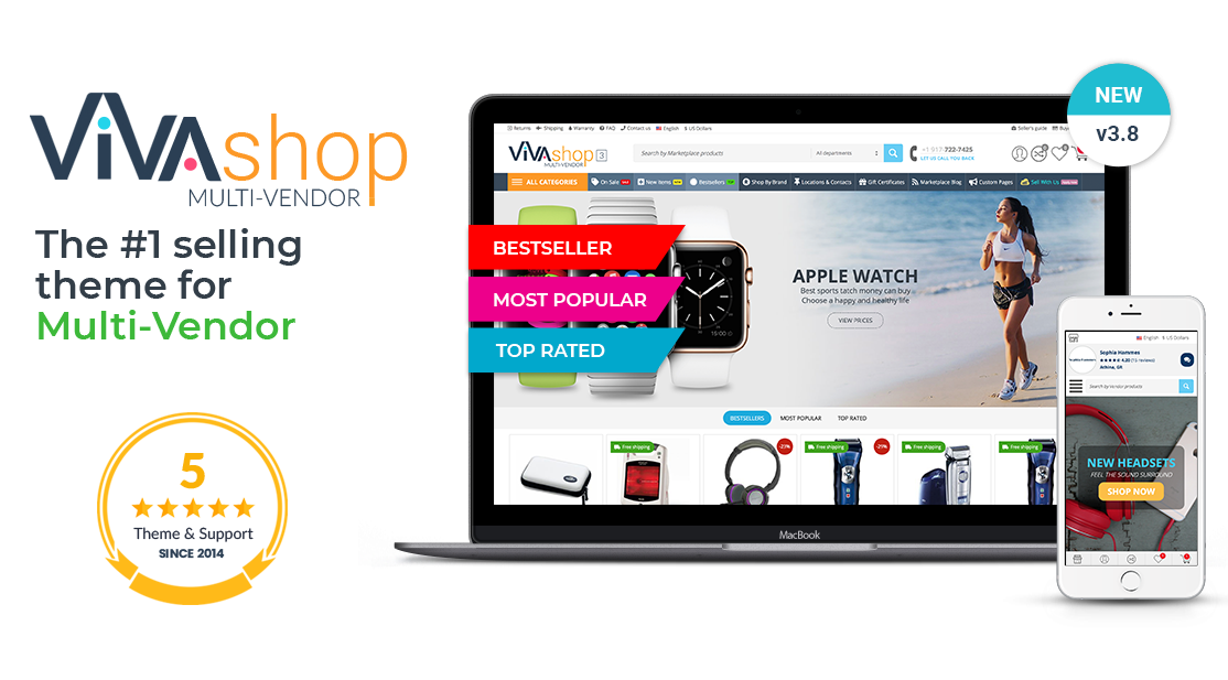 VIVAshop Multi-Vendor theme